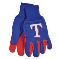 Texas Rangers Two Tone Gloves - Adult Size - Special Order