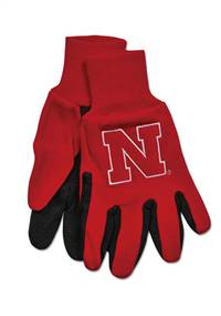 Nebraska Cornhuskers  Two Tone Gloves - Adult