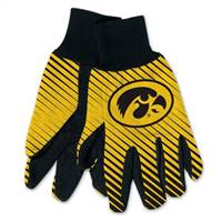 Iowa Hawkeyes Two Tone Gloves - Adult