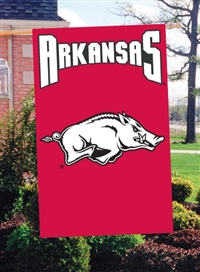"Arkansas Razorbacks Oversized 44"" x 28""  Applique Banner Flag"