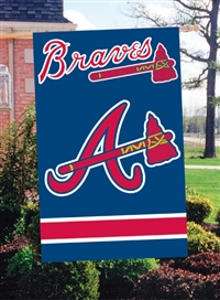 "Atlanta Braves MLB Oversized 44"" x 28"" Applique Banner Flag"