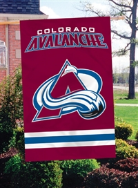 "Colorado Avalanche Oversized 44"" x 28"" Applique Banner Flag"