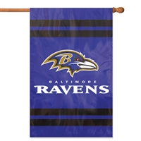"The Party Animal  44"" x 28"" NFL Baltimore Ravens Applique Banner Flag"