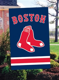 "Boston Red Sox MLB Oversized 44"" x 28"" Applique Banner Flag"