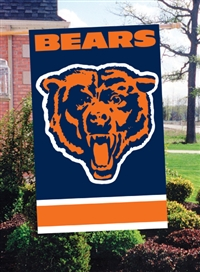 "The Party Animal  44"" x 28"" NFL Bears Applique Banner Flag"