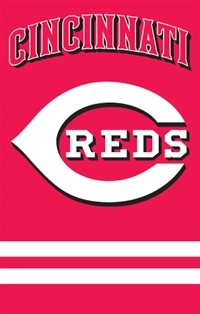 "Cincinnati Reds MLB Oversized 44"" x 28"" Applique Banner Flag"