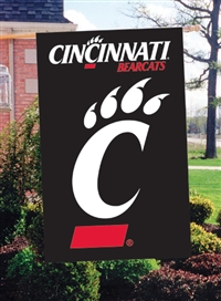 "Cincinnati Bearcats Oversized 44"" x 28"" Applique Banner Flag"