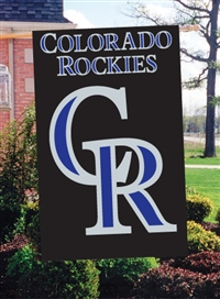 "Colorado Rockies MLB Oversized 44"" x 28"" Applique Banner Flag"
