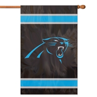 "The Party Animal  44"" x 28"" NFL Carolina Panthers Applique Banner Flag"
