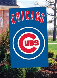 "Chicago Cubs MLB Oversized 44"" x 28"" Applique Banner Flag"