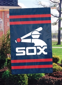 Chicago White Sox Retro 2-Sided Applique & Embroidered House Flag, Cooperstown Collection