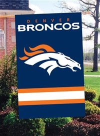 "The Party Animal  44"" x 28"" NFL Denver Broncos Applique Banner Flag"