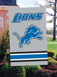 "The Party Animal  44"" x 28"" NFL Detroit Lions Applique Banner Flag"