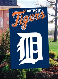 "Detroit Tigers MLB Oversized 44"" x 28"" Applique Banner Flag"