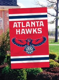 "Atlanta Hawks NBA Oversized 44"" x 28"" Applique Banner Flag"