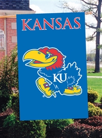 "Kansas Jayhawks Oversized 44"" x 28"" Applique Banner Flag"