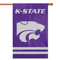 "Kansas State Wildcats Oversized 44"" x 28"" Applique Banner Flag"