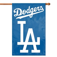 "Los Angeles Dodgers MLB Oversized 44"" x 28"" Applique Banner Flag"