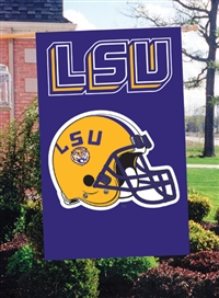 "LSU Tigers Oversized 44"" x 28"" Applique Banner Flag"