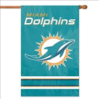 "The Party Animal  44"" x 28"" NFL Miami Dolphins Applique Banner Flag"