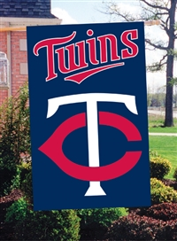 "Minnesota Twins MLB Oversized 44"" x 28"" Applique Banner Flag"