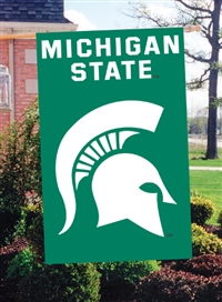 "Michigan State Spartans Oversized 44"" x 28"" Applique Banner Flag"