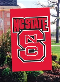 "North Carolina State Wolfpack Oversized 44"" x 28"" Applique Banner Flag"