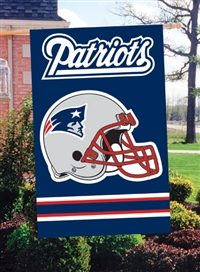 "The Party Animal  44"" x 28"" NFL New England Patriots Applique Banner Flag"