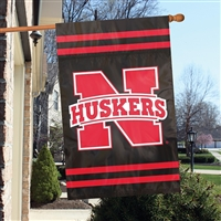 "Nebraska Huskers Oversized 44"" x 28"" Applique Banner Flag"