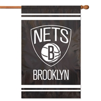 "New Jersey Nets NBA Oversized 44"" x 28"" Applique Banner Flag"