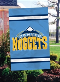 "Denver Nuggets NBA Oversized 44"" x 28"" Applique Banner Flag"