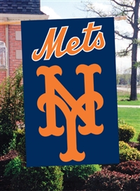 "New York Mets MLB Oversized 44"" x 28"" Applique Banner Flag"