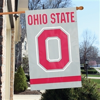"Ohio State Buckeyes Oversized 44"" x 28"" Applique Banner Flag"