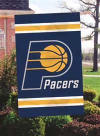 "Indiana Pacers NBA Oversized 44"" x 28"" Applique Banner Flag"