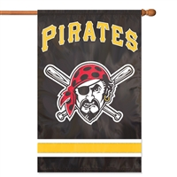 "Pittsburgh Pirates MLB Oversized 44"" x 28"" Applique Banner Flag"