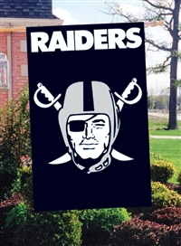 "The Party Animal  44"" x 28"" NFL Oakland Raiders Applique Banner Flag"