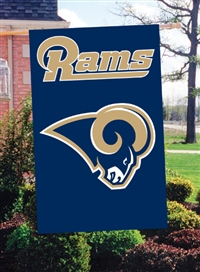 "The Party Animal  44"" x 28"" NFL St. Louis Rams Applique Banner Flag"