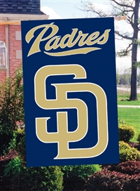 "San Diego Padres MLB Oversized 44"" x 28"" Applique Banner Flag"