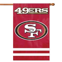 "The Party Animal  44"" x 28"" NFL San Francisco 49ers Applique Banner Flag"