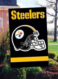 "The Party Animal  44"" x 28"" NFL Pittsburgh Steelers Applique Banner Flag"