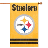 Pittsburgh Steelers 2-Sided Applique Banner Flag