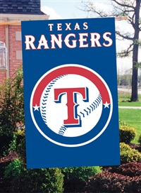 "Texas Rangers MLB Oversized 44"" x 28"" Applique Banner Flag"