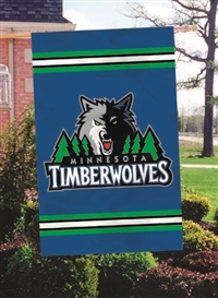 "Minnesota Timberwolves NBA Oversized 44"" x 28"" Applique Banner Flag"