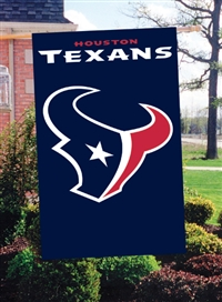 "The Party Animal  44"" x 28"" NFL Houston Texans Applique Banner Flag"