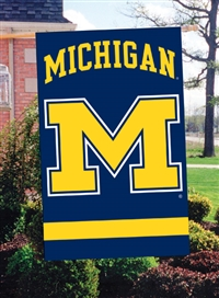 "Michigan Wolverines Oversized 44"" x 28"" Applique Banner Flag"