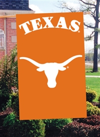 "Texas Longhorns Oversized 44"" x 28"" Applique Banner Flag"