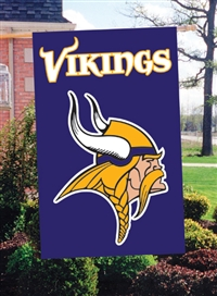 "The Party Animal  44"" x 28"" NFL Minnesota Vikings Applique Banner Flag"