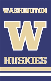 "Washington Huskies Oversized 44"" x 28"" Applique Banner Flag"