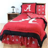 Alabama Crimson Tide Bed in a Bag Twin with Team Colored Sheets