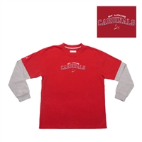 "Saint Louis Cardinals MLB Danger"" Youth Tee (Red) (Large)"""